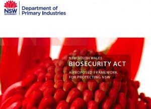 New NSW biosecurity framework
