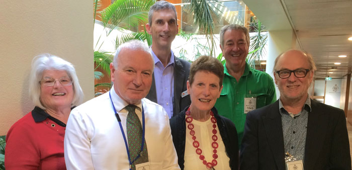 The delegation included, left to right, Clare McMahon, Wollongong City Council lord mayor Gordon Bradbery, our CEO Andrew Cox, Barbara Mathie, Ted Rowley and Richard Scarborough.