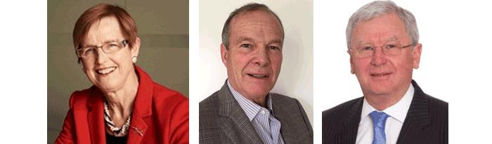 Dr Wendy Craik, David Palmer and Dr Richard Sheldrake.