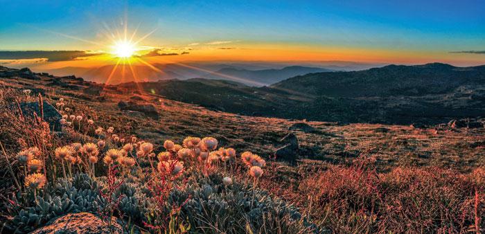 Sunset from Mt Kosciuszko. Photo: Mike Edmondson
