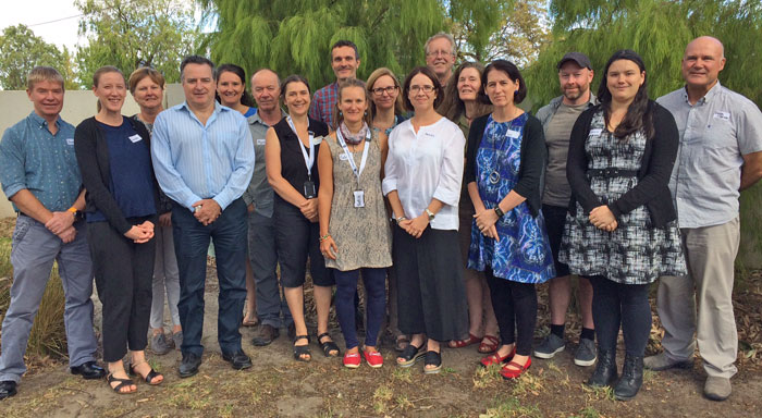 Australian and international scientists who attended a week-long impacts assessment workshop in March 2018 as part of the Invasive Insects Risks and Pathways Project.