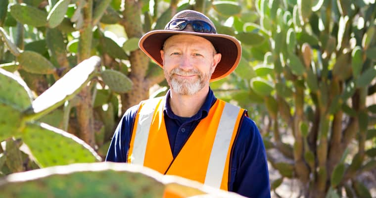 Mathew Warren works for Queensland's Southern Downs Regional Council, which won a 2019 Froggatt Award for their pioneering and innovative Invasive Pest Control Scheme that rewards landholders for undertaking pest and weed management.